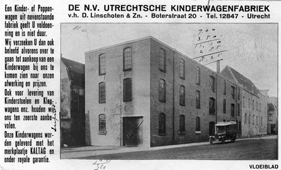 Kaltag - N.V. Utrechtse kinderwagenfabriek.