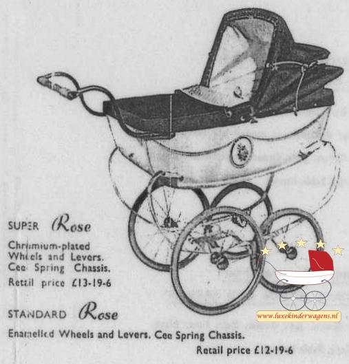 SIlver Cross Poppenwagen Rose 1954